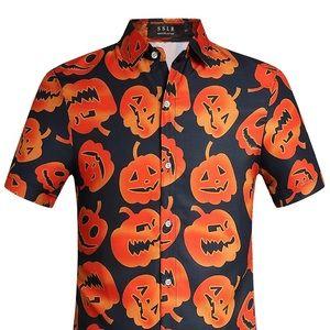 Other - Pumpkin 🎃 button down collared shirt